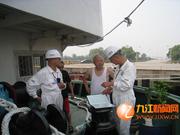 九江港区海事处加强汛期集装箱船贪缓流安全宣传