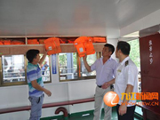九江港区海事处加强高温高水位期间渡船安全监管