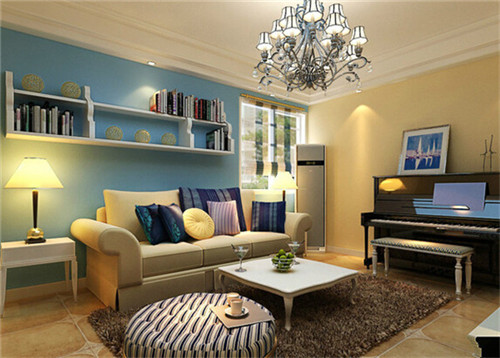 2015小户型客厅装修效果图 没有最美只有更美图片