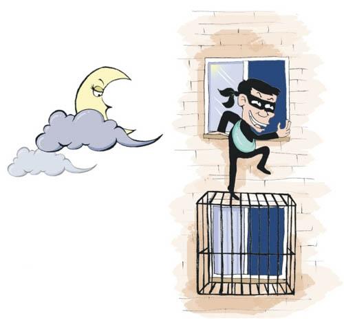 30层高楼小偷爬不上?你OUT了! 蜘蛛贼专门从楼顶逆袭