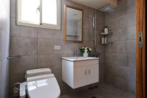 现代简约卫生间装修效果图大全2015图片
