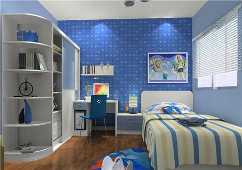 小户型卧室装修2015图片 蓝色地中海卧室设计图片