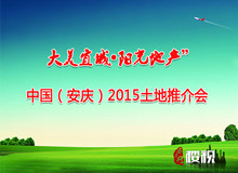 """""""大美宜城•阳光地产""""中国(安庆)2015土地推介会"""