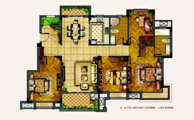 南北大尺度双阳台,让室内空间和室外园林完美融合。
