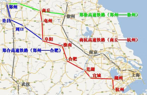郑州 阜阳高铁获发改委批准 郑州到合肥仅2小时