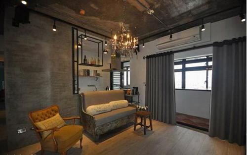 50平loft复古风装修效果图大全2015图片