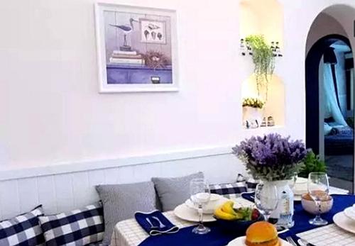 小户型卡座餐厅装修效果图 浪漫文艺范高清图片