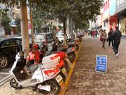 蚌埠市非机动车乱停放或被锁扣 引导整治为主