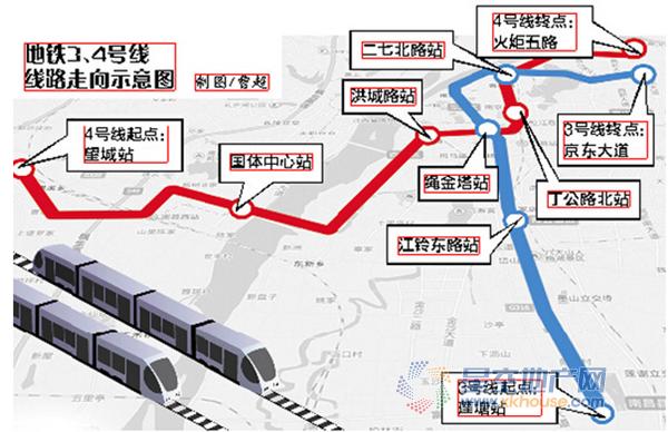 南昌地铁三号线现在开工建设 全长28.5千米图片