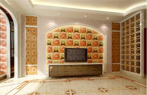 2015马赛克电视背景墙效果图