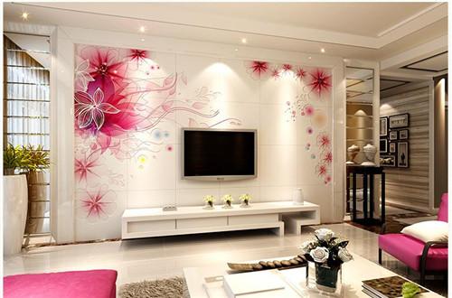 瓷砖电视背景墙 2015电视墙瓷砖效果图欣赏