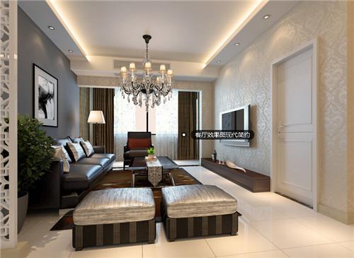 家庭现代简约客厅装修效果图大全2015图片