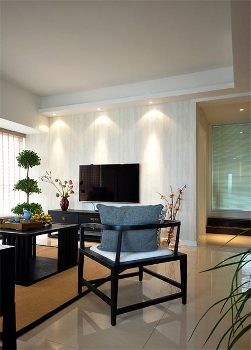 130平新中式电视背景墙装修效果图大全2015图片