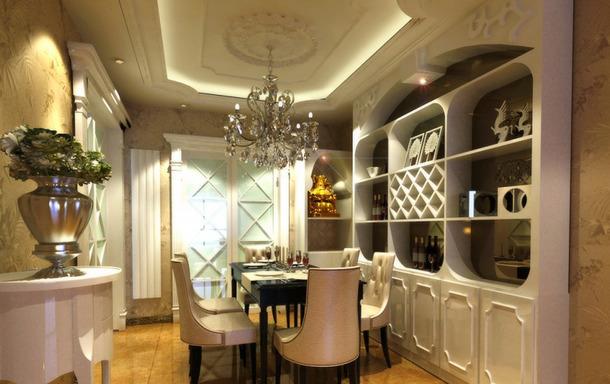 豪华两居室欧式风格装修效果图-欧式风格酒柜图片图片