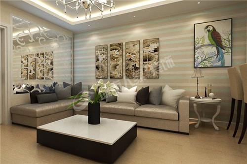 两居室装修90平米室内装修效果图 高贵中典雅高清图片