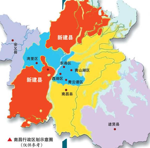 江西南昌地图-撤县设区梦想终成真 细数新建那些热门楼盘