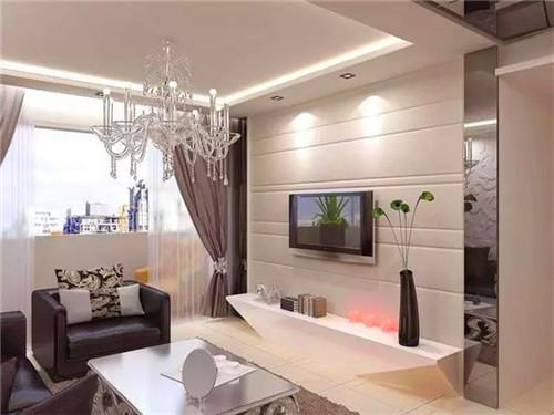 2015现代简约小户型客厅电视背景墙装修效果图高清图片