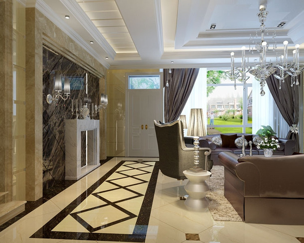 93平米家庭装修效果图2015图片大全 高端家装秀高清图片