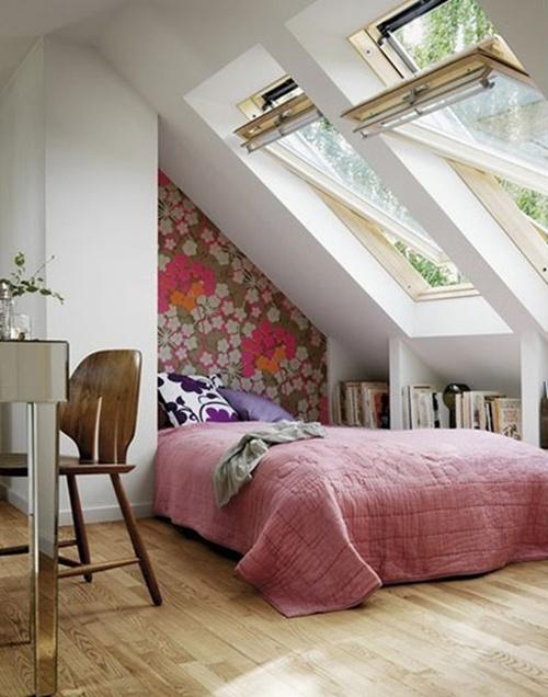 可爱阁楼小卧室效果图欣赏 享受阁楼上的时光图片