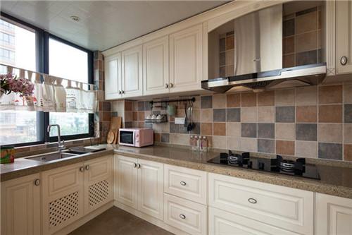 装修厨房看这里 2015新潮美式风格厨房装修效果图图片