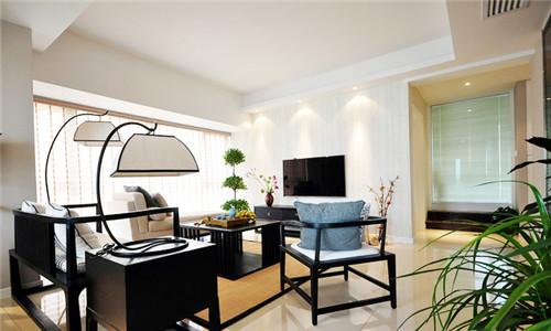 家庭装修设计 简约风格 2015大户型新中式风格三室两厅两卫装修效果
