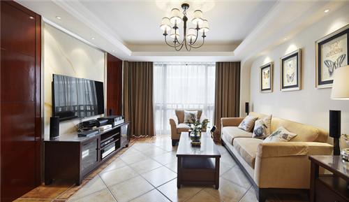 100平米简约美式风格装修效果图房屋2015大全图片室庭院设计图图片