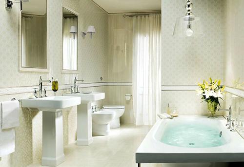 唯美浴缸设计 卫生间装修效果图大全2015图片