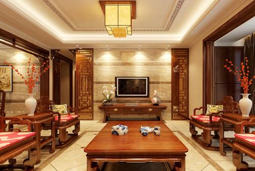 12个中式客厅电视背景墙装修效果图大全2015图片图片