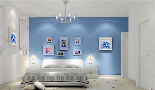 淡蓝色卧室装修设计2015图片 增添优雅
