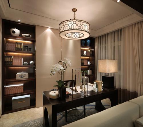 110平三居室新中式风格装修效果图大全2015图片高清图片