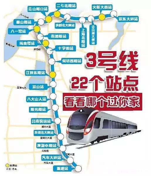 为拥抱地铁时代点赞 南昌地铁3号线 公示图片