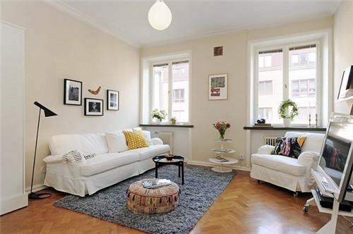 简欧宜家风格小户型客厅装修效果图 2015图片大全图片