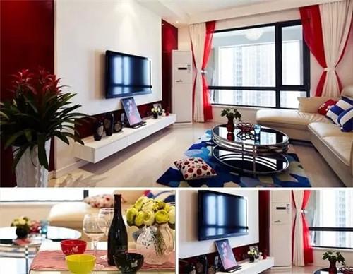 小户型三室一厅装修效果图 现代简约风格2015图片高清图片