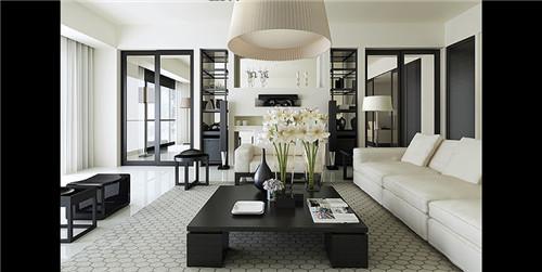 黑白简约风格欧式客厅效果图2015 小户型装修-合房网图片