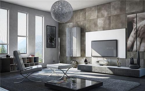 黑白简约风格欧式客厅效果图2015 小户型装修图片