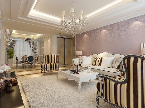 两居室靓丽装修效果图赏析 客厅装修时尚案例高清图片