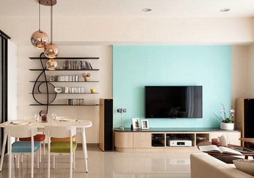 12款实用简约小户型客厅电视背景墙效果图,小户型室内装修用上这些