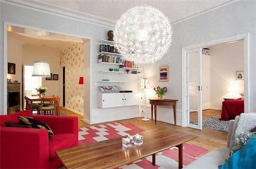 简欧宜家风格小户型客厅装修效果图 2015年图片大全图片