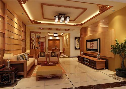 一起来看看2015年流行的10款新中式客厅装修效果图吧!