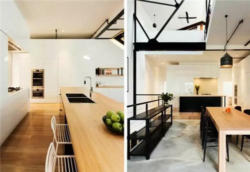 约现代韩式风格开放式厨房装修2015图片高清图片