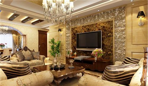 欧式客厅电视背景墙设计 2015流行的电视背景墙效果图图片