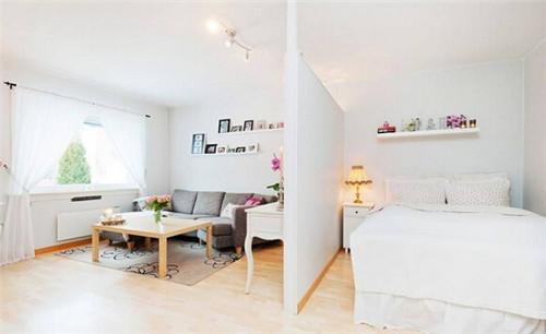 小户型单身公寓客厅卧室一体装修图2015图片图片