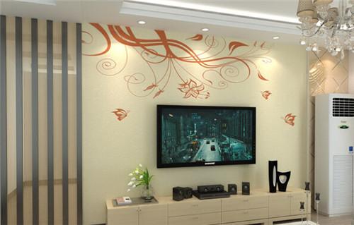 11月最新客厅现代简约电视墙装修效果图2015图片高清图片