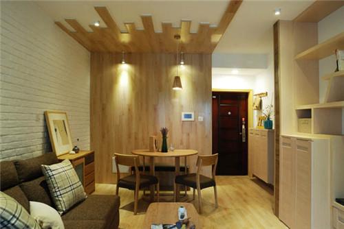 小户型两居室装修案例2015图片 实用原木风家居设计