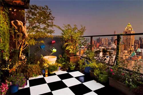 阳台花园的露台阳光风格装修设计效果图绘制打造斜线同一个单无格里如何温暖两条田园图片