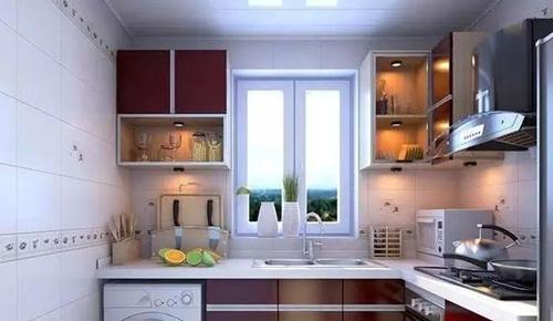 2015冬季小户型厨房装修效果图大全图片