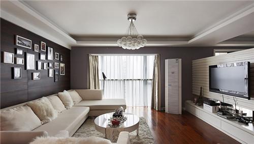 流行客厅背景墙装修小户型实景图参考图片