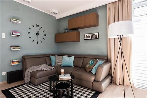 精美小客厅装修效果图2015图片 时尚设计超强收纳-合房网