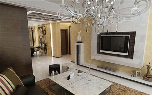 代风格 风格的微晶石客厅电视背景墙装修