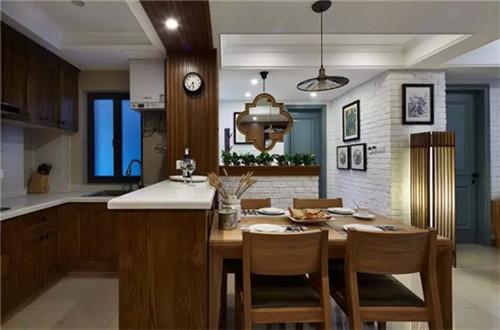 简美混搭风2015图片 开放式厨房装修设计
